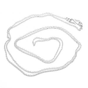 Ankerkæde rund i 1,3 mm. Halskæde i sterling sølv, forgyldt eller 14 karat