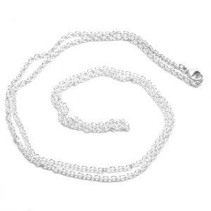 Ankerkæde, Halskæde i sterling sølv, forgyldt eller 14 karat