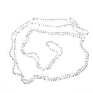 Kuglekæde Halskæde i sterling sølv, forgyldt eller 14 karat