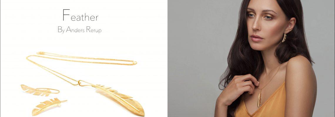 Feather smykker med fjer arsmykkedesign