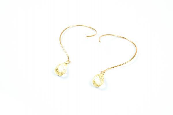 Loops øreringe med Citrin og ædelsten og krystaller