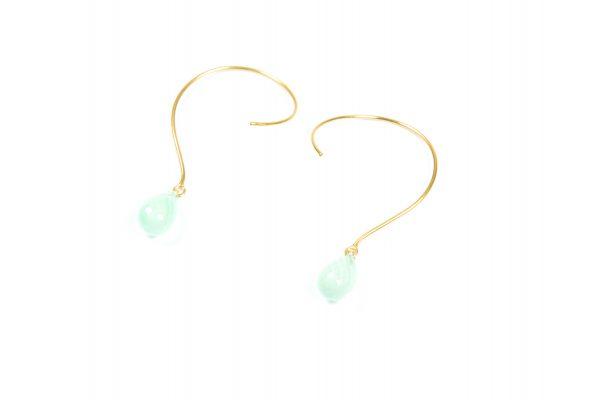 Loops øreringe med Agat og ædelsten og krystaller