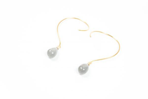 Loops øreringe med månesten og ædelsten og krystaller