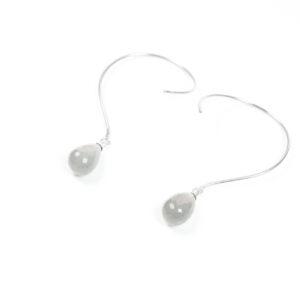 Loops øreringe med ædelsten og krystaller