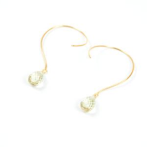Loops øreringe med Lemonkvarts og med ædelsten og krystaller