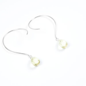 Loops øreringe med lemonkvarts og ædelsten og krystaller