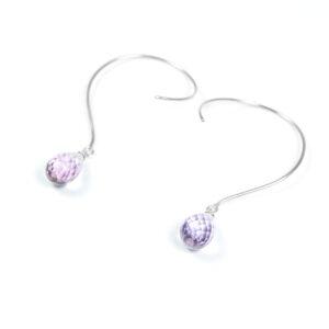 Loops øreringe med Ametyst og ædelsten og krystaller