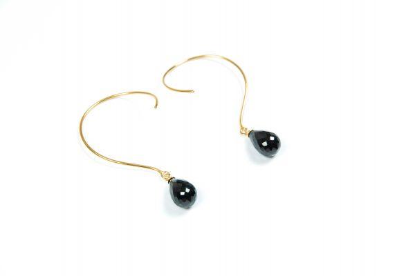 Loops Øreringe med Onyx og ædelsten og krystaller