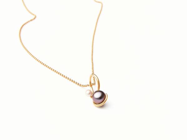 Earth and Moon ring og vedhæng med perler