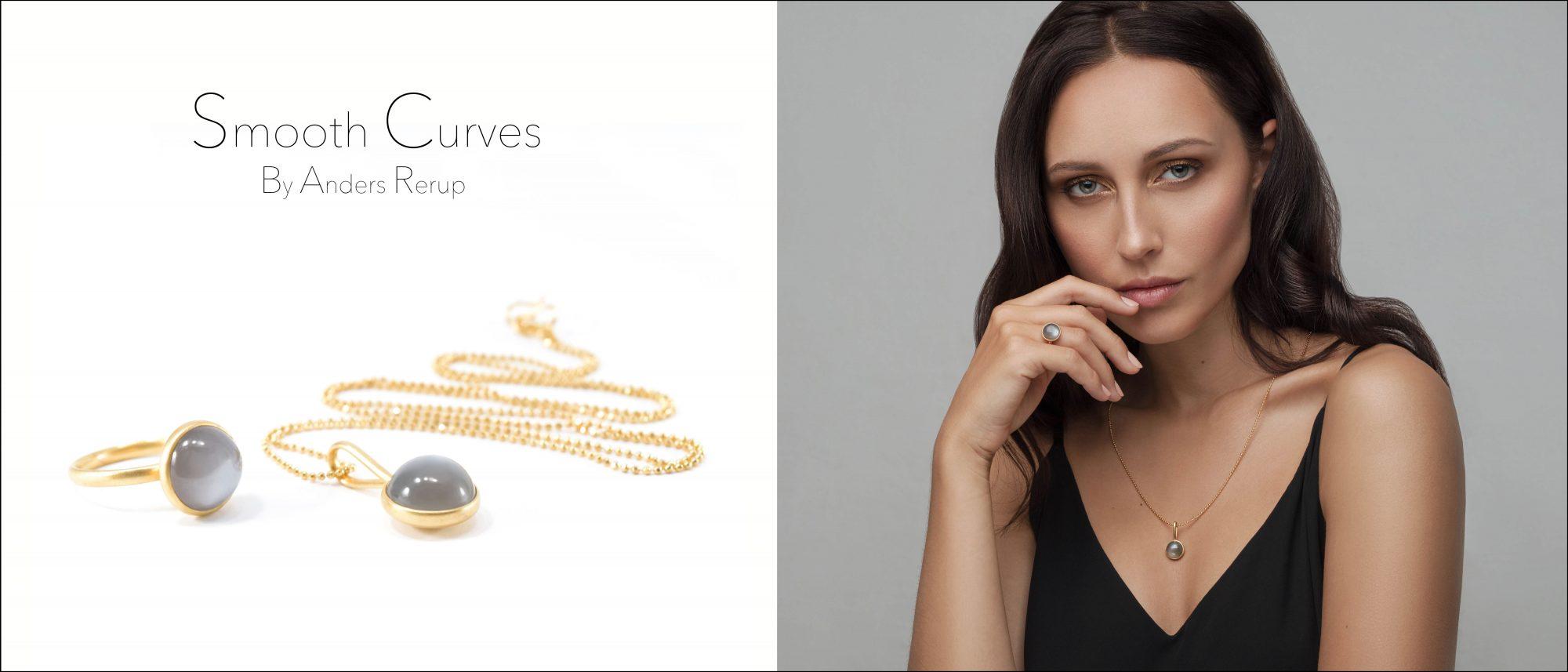 Smooth Curves smykker med månesten ARsmykkedesign