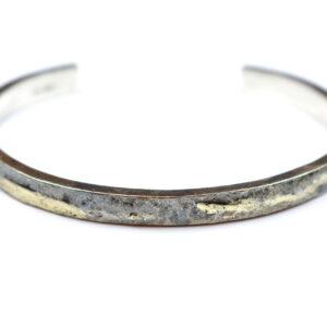 Sølvarmbånd med 14 Karat Guld