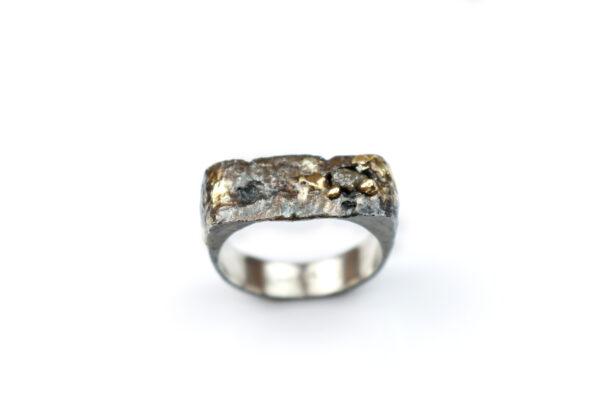 RAW sølvring med rådiamant