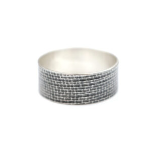 Sølvring med Slangeskind print