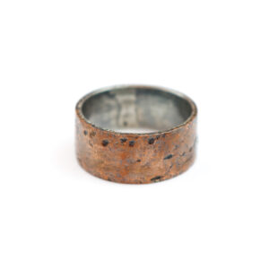 Sølvring med Kobber og Guld
