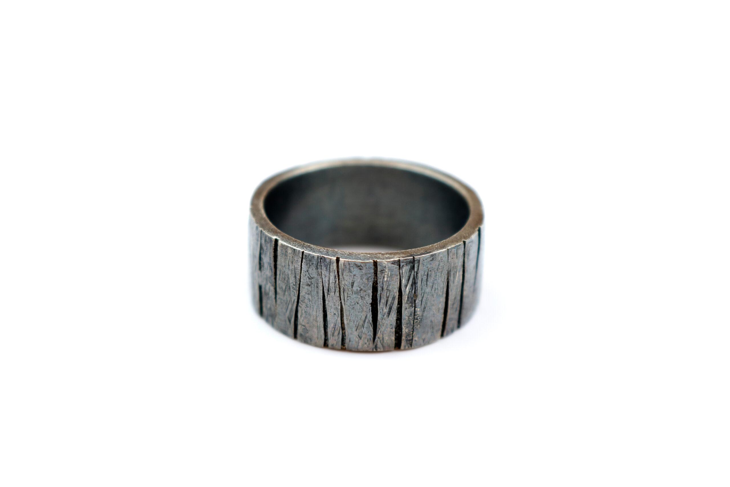 RAW Sølvring Fyrretræ