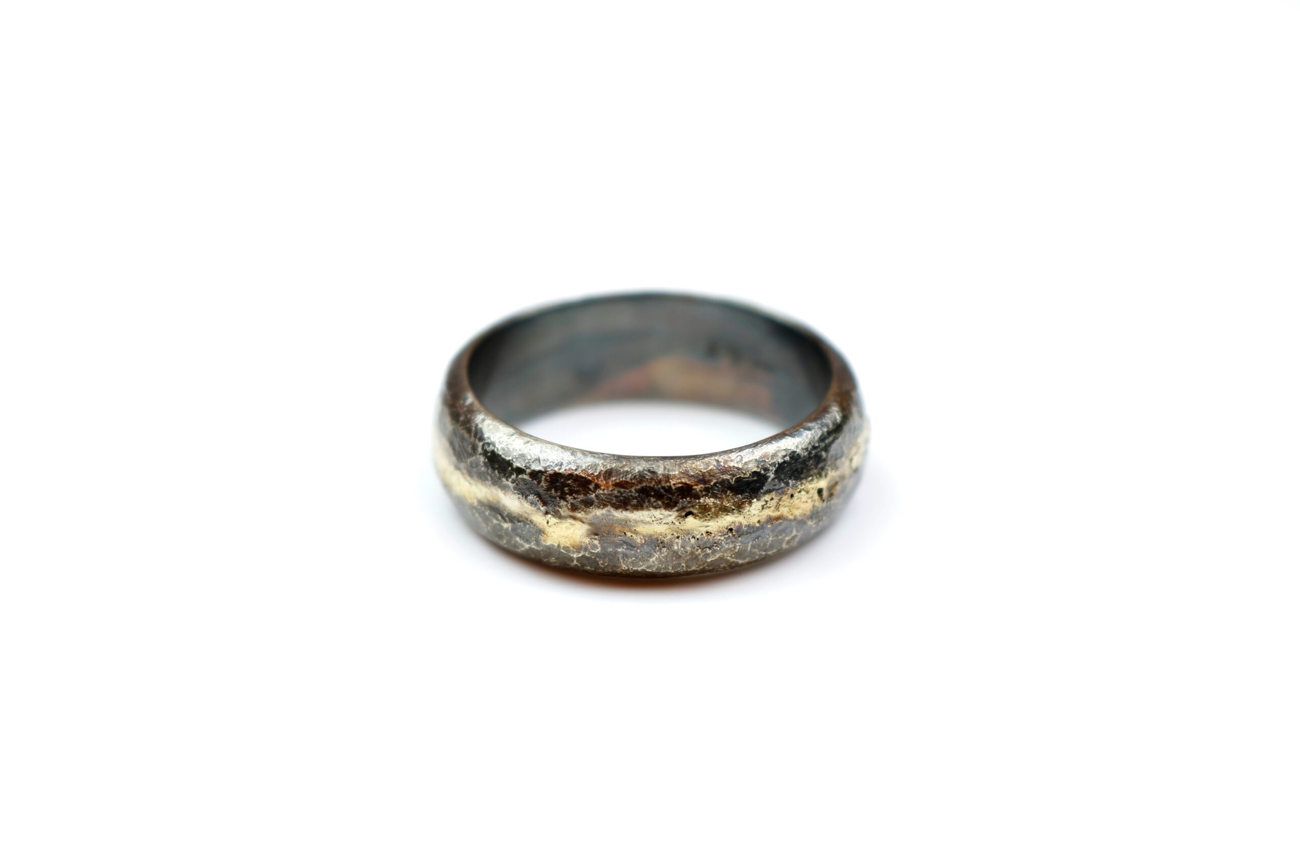 RAW Sølvring med Guldbånd