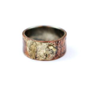 RAW Sølvring med Kobber, Sølv og Guld