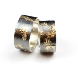 Vielsesringe i Sølv og Guld med Diamanter